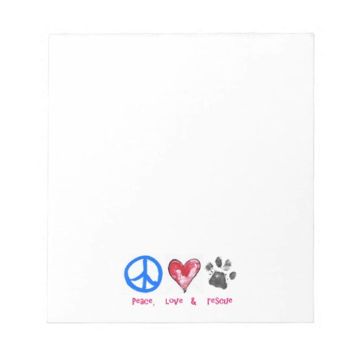 Peace, Love & Rescue Notepad