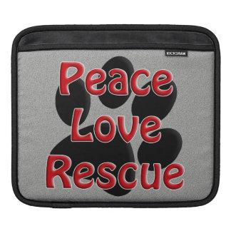 Peace Love Rescue Pet Adoption Sleeve For iPads