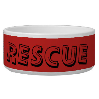 Peace Love Rescue Pet Bowl