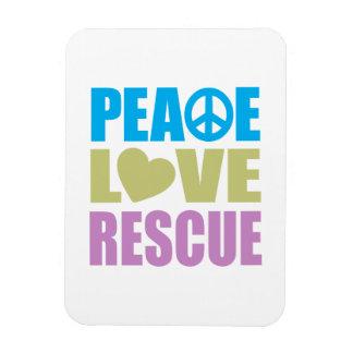 Peace Love Rescue Vinyl Magnet