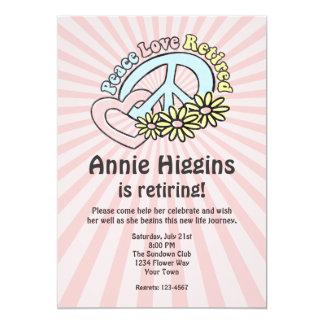Peace Love Retired Invitation