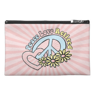 Peace Love Retired Travel Accessory Bag