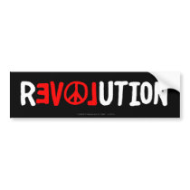 Peace Love Revolution Bumper Sticker