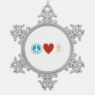 Peace Love Rhode Island Ornament