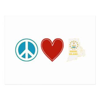 Peace Love Rhode Island Post Cards