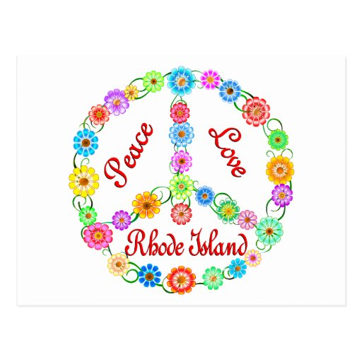 Peace Love Rhode Island Postcard