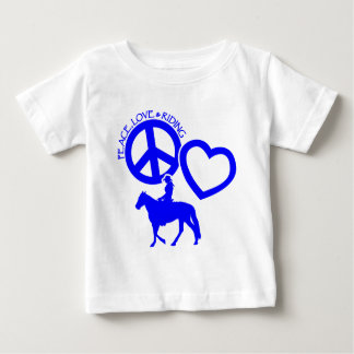 PEACE-LOVE-RIDING BABY T-Shirt
