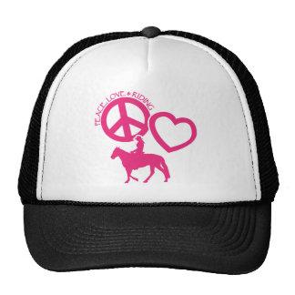 PEACE-LOVE-RIDING GORRA
