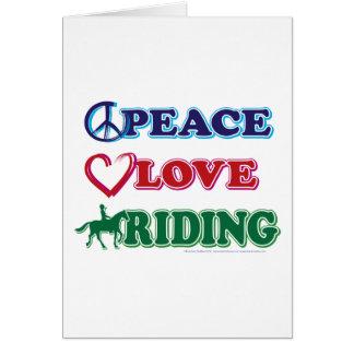 Peace-Love-Riding Horses Greeting Card