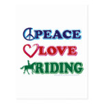 Peace-Love-Riding Horses Postcard