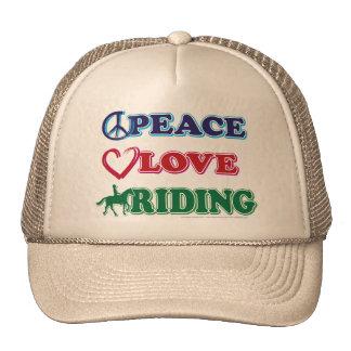 Peace-Love-Riding Horses Trucker Hat