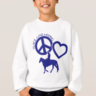 PEACE-LOVE-RIDING SWEATSHIRT