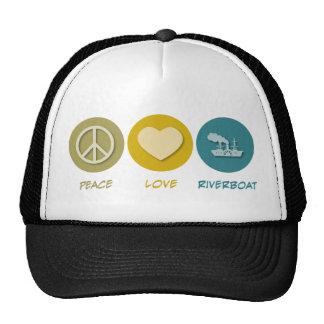 Peace Love Riverboat Trucker Hat
