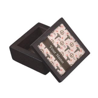 Peace Love RN Nurse Caduceus Gift Box Premium Jewelry Boxes
