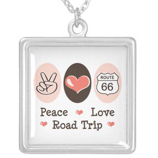 Peace Love Road Trip Necklace