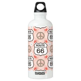 Peace Love Road Trip Route 66 BPA Fre Water Bottle