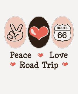 Peace Love Road Trip Route 66 Raglan Tee Shirt