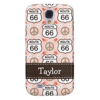 Peace Love Road Trip Route 66 Samsung Galaxy S4 Cover