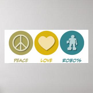 Peace Love Robots Poster