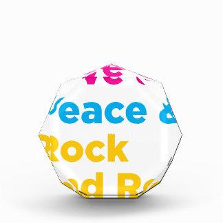 Peace & Love & Rock and Roll Acrylic Award