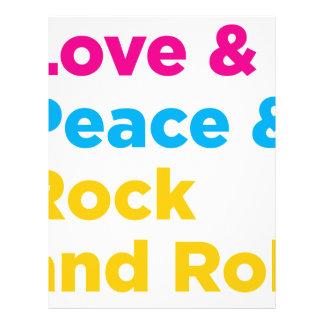 Peace & Love & Rock and Roll Letterhead