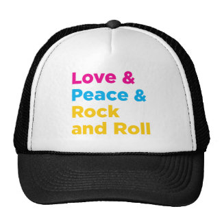 Peace & Love & Rock and Roll Trucker Hat