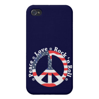 Peace, Love, Rock n Roll iPhone 4 Cover