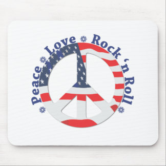 Peace, Love, Rock n Roll Mouse Pad