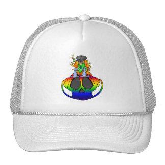 Peace Love & Rock N Roll Trucker Hat