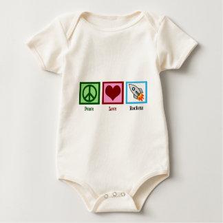 Peace Love Rockets Baby Bodysuit