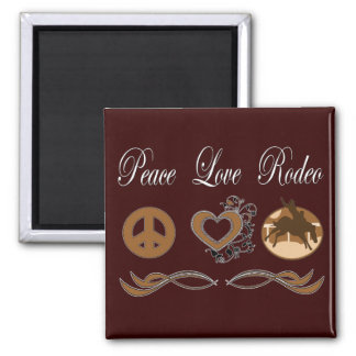 Peace Love Rodeo Magnet