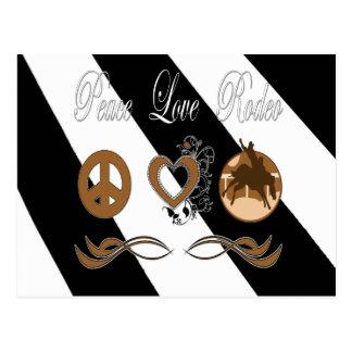 Peace Love Rodeo Postcard