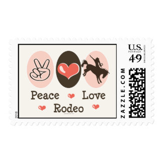 Peace Love Rodeo Stamps