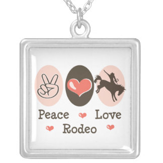 Peace Love Rodeo Sterling Silver Necklace