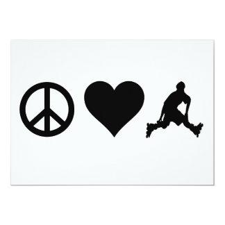 Peace Love Rollerblading Card