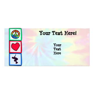 Peace, Love, Rollerblading Rack Card Template