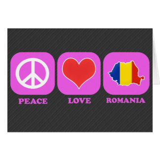 Peace Love Romania Card