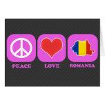 Peace Love Romania Greeting Card