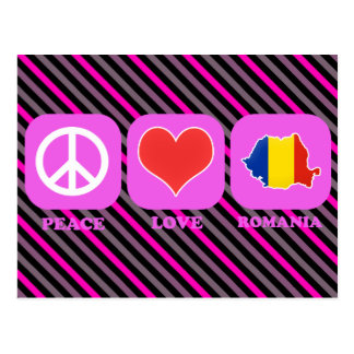 Peace Love Romania Postcard