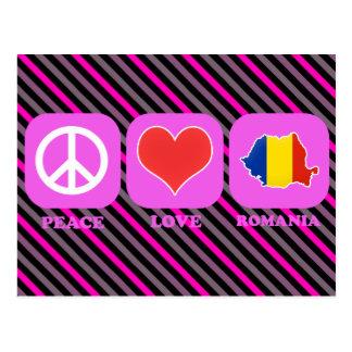 Peace Love Romania Postcard