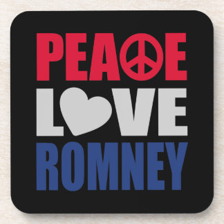 Peace Love Romney Beverage Coaster
