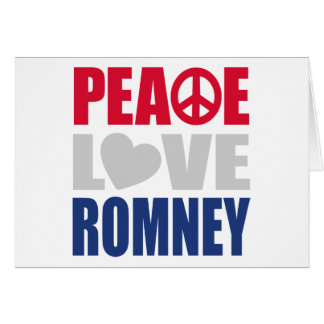 Peace Love Romney Greeting Card