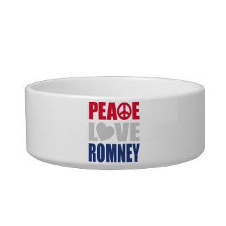 Peace Love Romney Cat Bowls