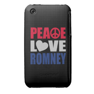 Peace Love Romney iPhone 3 Cover