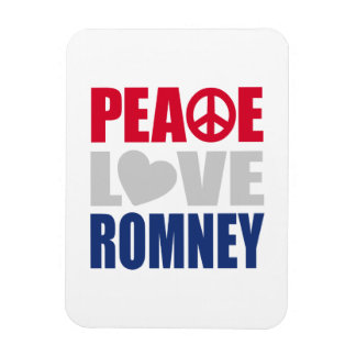 Peace Love Romney Magnet