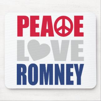 Peace Love Romney Mouse Pad