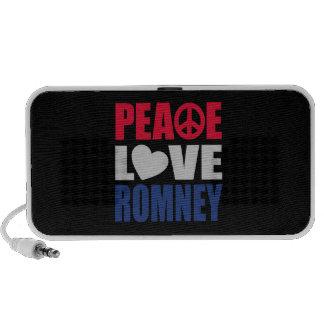 Peace Love Romney Notebook Speakers