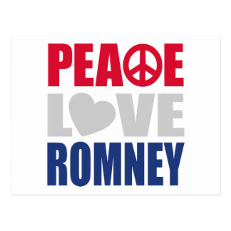 Peace Love Romney Postcard