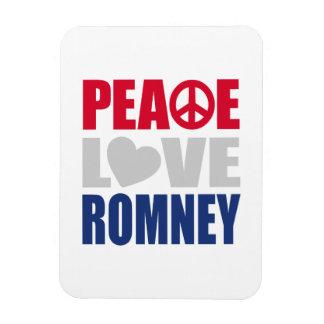 Peace Love Romney Rectangular Magnet