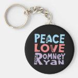 peace love Romney Ryan Key Chains